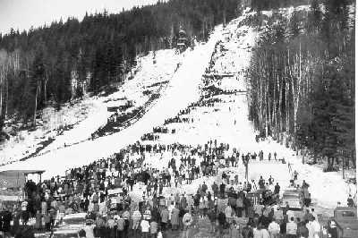 Revelstoke ski jump in the 1950's