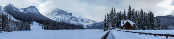 Emerald Lake in Winter © Parks Canada