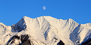 Moon over the Mitchell Range in Kootenay National Park © Parks Canada / Alan Dibb