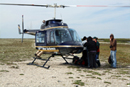 First helicopter to leave Wapusk
