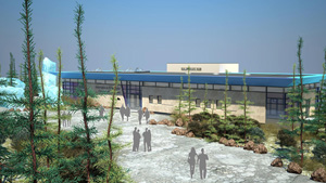 Architectural rendering of the new International Polar Bear Conservation Centre