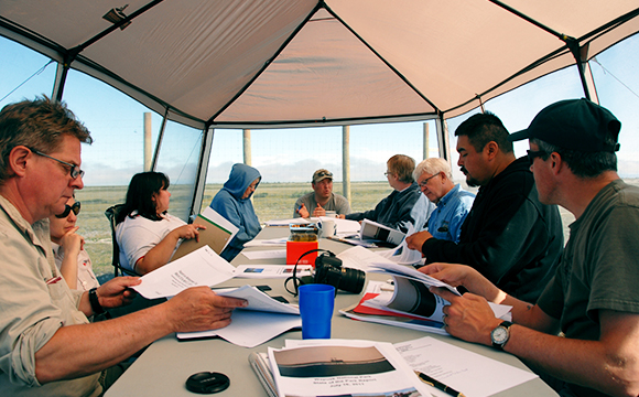 The Wapusk Management Board meeting at the Broad River Compound