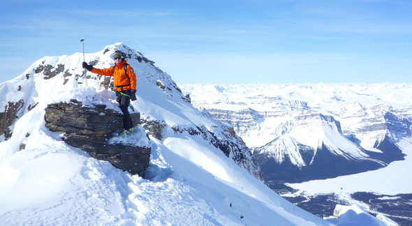 Maintaining a high level of climbing and skiing skills is part of a Mountain Safety Specialists job.