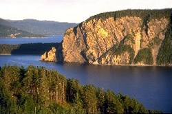 Shag Cliff from Norris Point, Bonne Bay, GMNP
