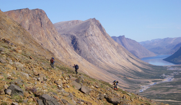 Hikers in Torngat Mountains National Park