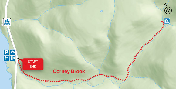 Map - Corney Brook