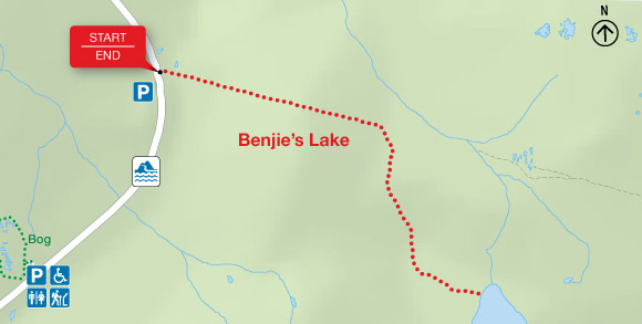Map - Benjie's Lake