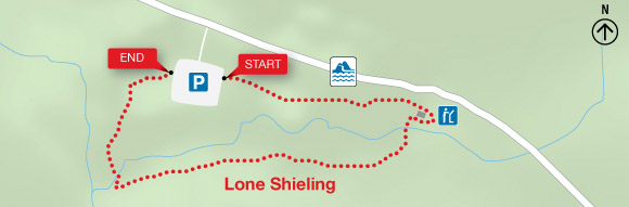 Map - Lone Shieling