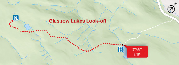 Map - Glasgow Lakes Look-off