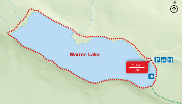Map - Warren Lake