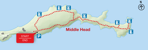 Map - Middle Head