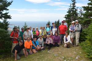 A group photo of the Hike the Highlands participants