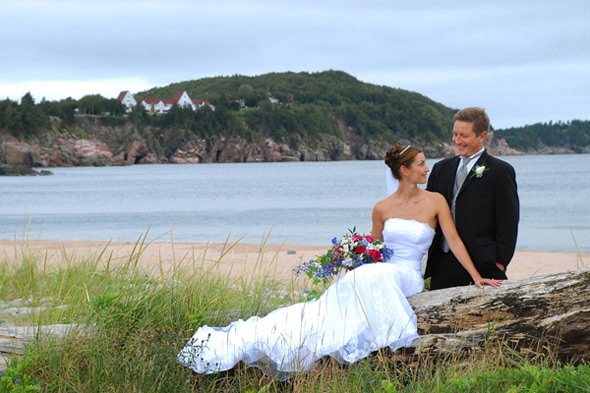 Wedding at Ingonish Beach