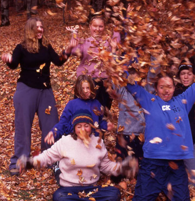 Group at Jim Charles Point in fall