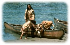 Mi'kmaw people and traditional canoes