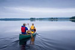 Canoeing on Kejimkujik Lake