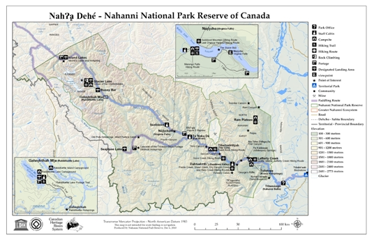 Small Nahanni map