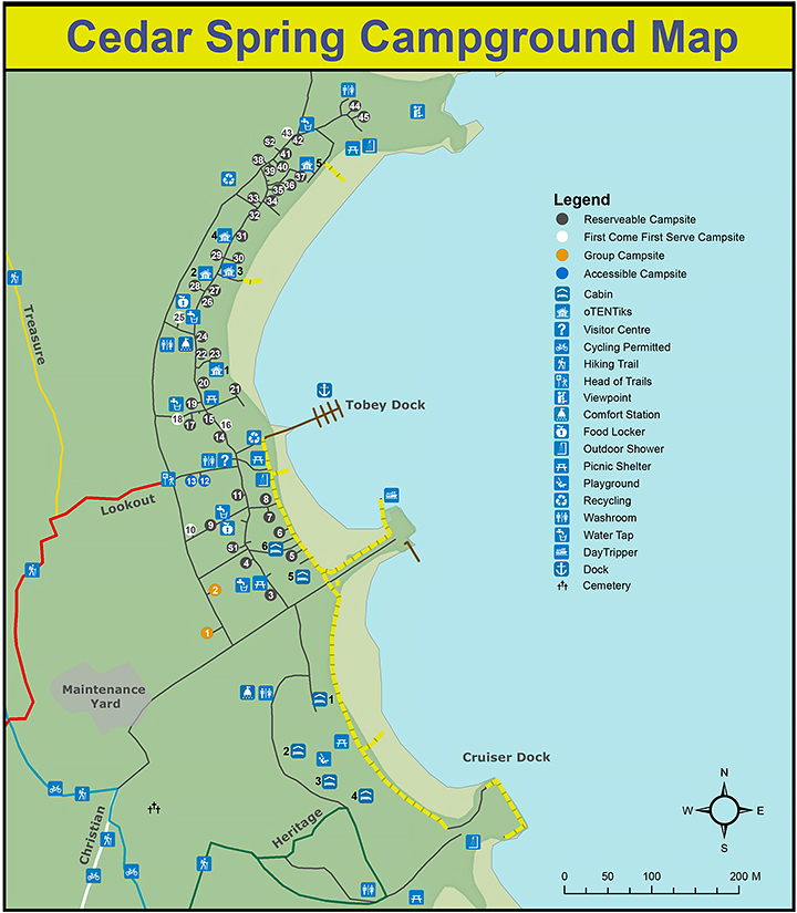 Map of Cedar Spring Campground