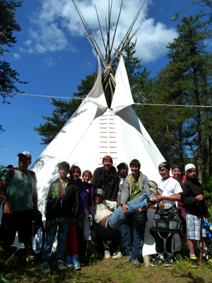 Group Photo of Louie Lake Youth Camp Participants