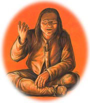 Mi'kmaq in traditional clothing