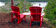 The first set of red chairs has been installed at the Lac aux Chevaux lookout on the Solitaire Lake trail.