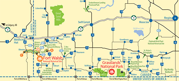 Map showing how to get to the site