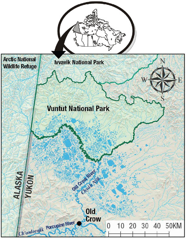 Vuntut National Park location map