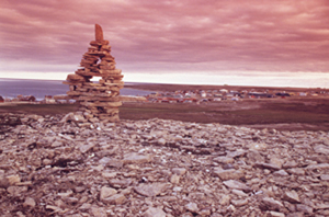 Inuksuk at Igloolik Archeological Site National Historic Site of Canada (Nun.)