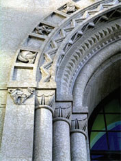Federal Building, detail of main entrance, Winnipeg, Manitoba