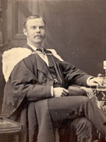 Portrait of R.B. Rogers at graduation from McGill (1878)