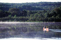 Canoeing on Lac à la Pêche