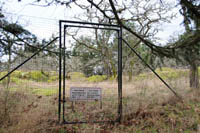 A fence encloses and protects rare species from over-grazing