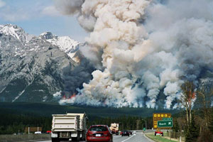 Prescribed burn at Banff National Park