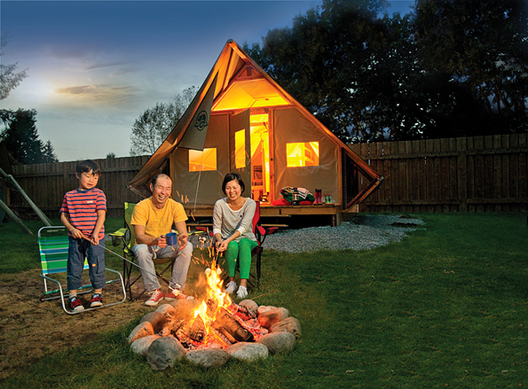 Parks Canada oTENTik: The new way to experience the Canadian camping tradition.