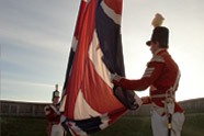 41st Regiment sergeants raising flag