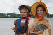 Ladies in 1812 costume