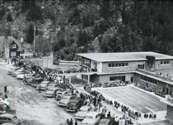 Radium Hot Springs – grand opening of aquacourt 1951