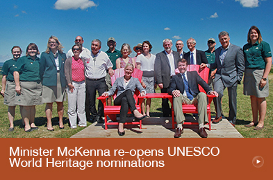 Minister McKenna re-opens UNESCO World Heritage nominations