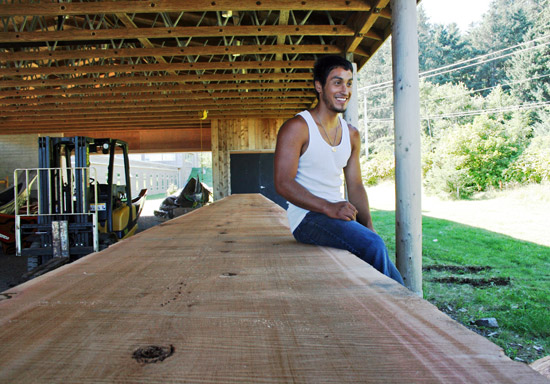 The milled log was moved the Haida Heritage Centre carving shed where carving will continue until July 2013