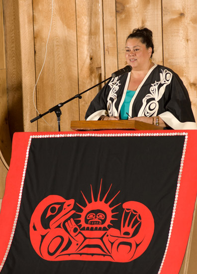 The pole will tell the story of protecting Gwaii Haanas from mountain-top to sea floor, said Cindy Boyko, the Haida Nation representative on Gwaii Haanas's cooperative management board.