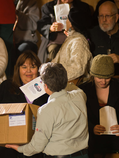 Guests received witness gifts, as part of the Haida tradition, at the event.