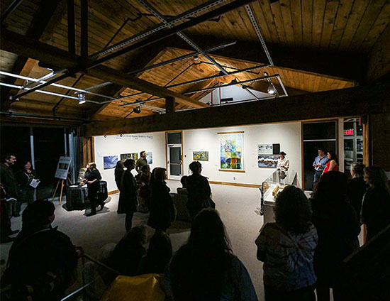 Opening night at the Haida Gwaii Museum was well attended for the third exhibition of the artists residency program