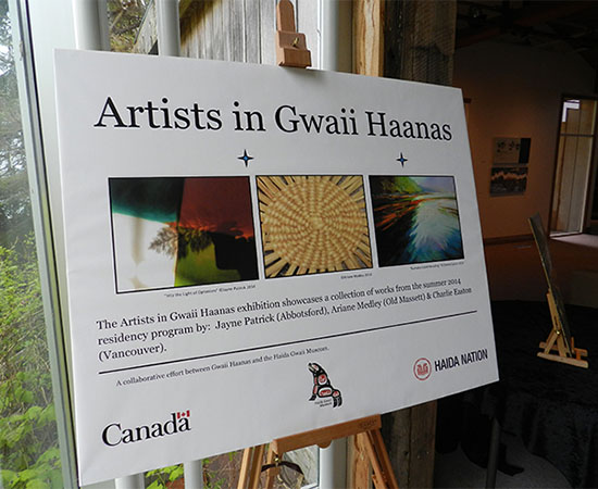 Welcome to the 2015 Art Exhibition, held at the Haida Gwaii Museum, showcasing works from the 2014 residency.