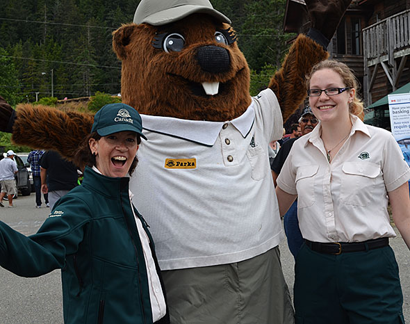 Parka and Gwaii Hanas staff – ready for a summer of fun on Haida Gwaii!
