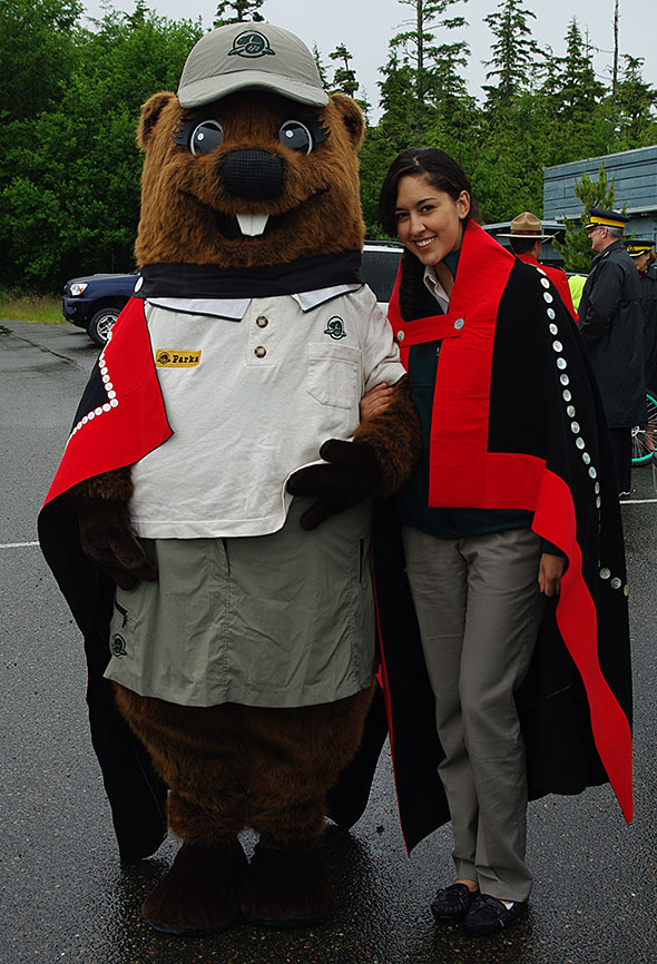 Parka is proud to march in the National Aboriginal Day Parade in Old Massett, B.C.
