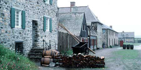 Pugnant dit Destouches House, also a bakery, faced the Quay and harbour, Louisbourg NHS