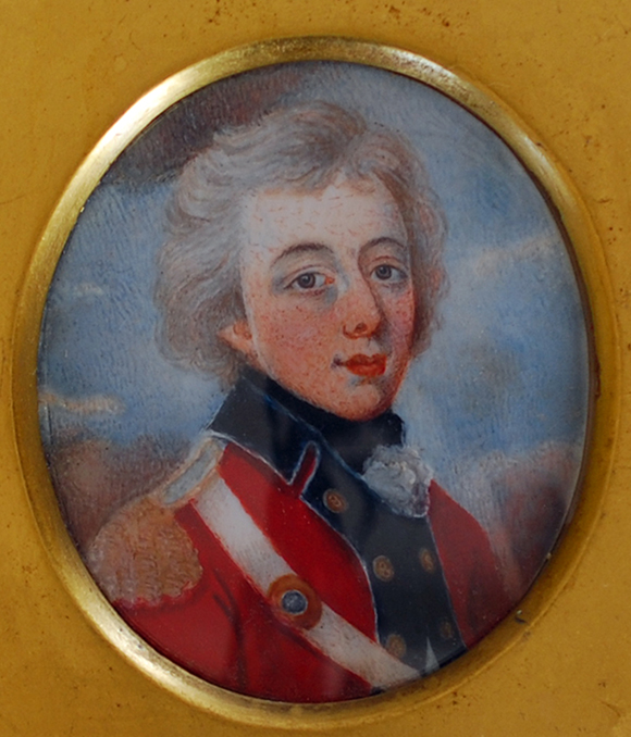 Miniature portrait of Edward Cotton.
