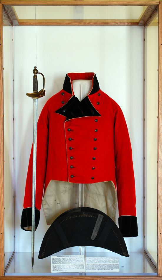 Captain Jean-Louis Ployard's Coatee, Chapeau, Sword, and Scabbard