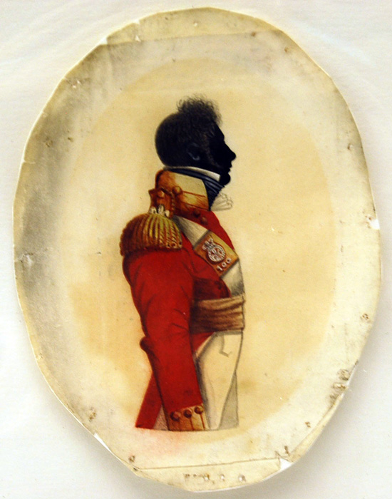 Silhouette Portrait of an Officer of the 100th Regiment of Foot