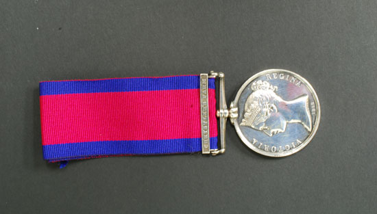 Military General Service Medal, with Chrysler's Farm Bar, named to H. Guilbeault, Canada Militia. Reverse View